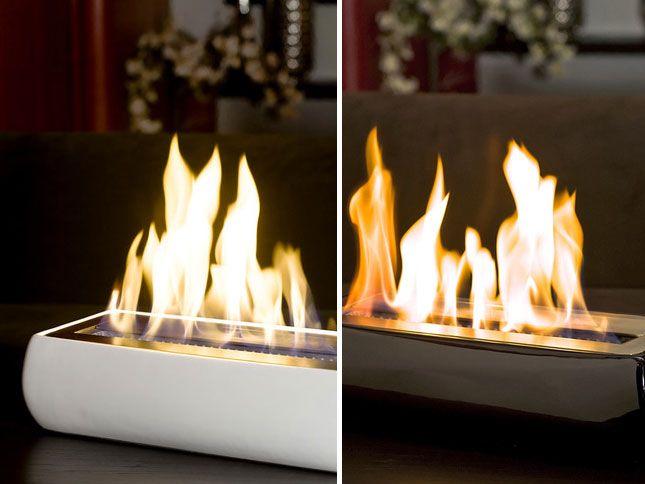 10 Portable Fireplaces for Petite Places via Brit + Co ...