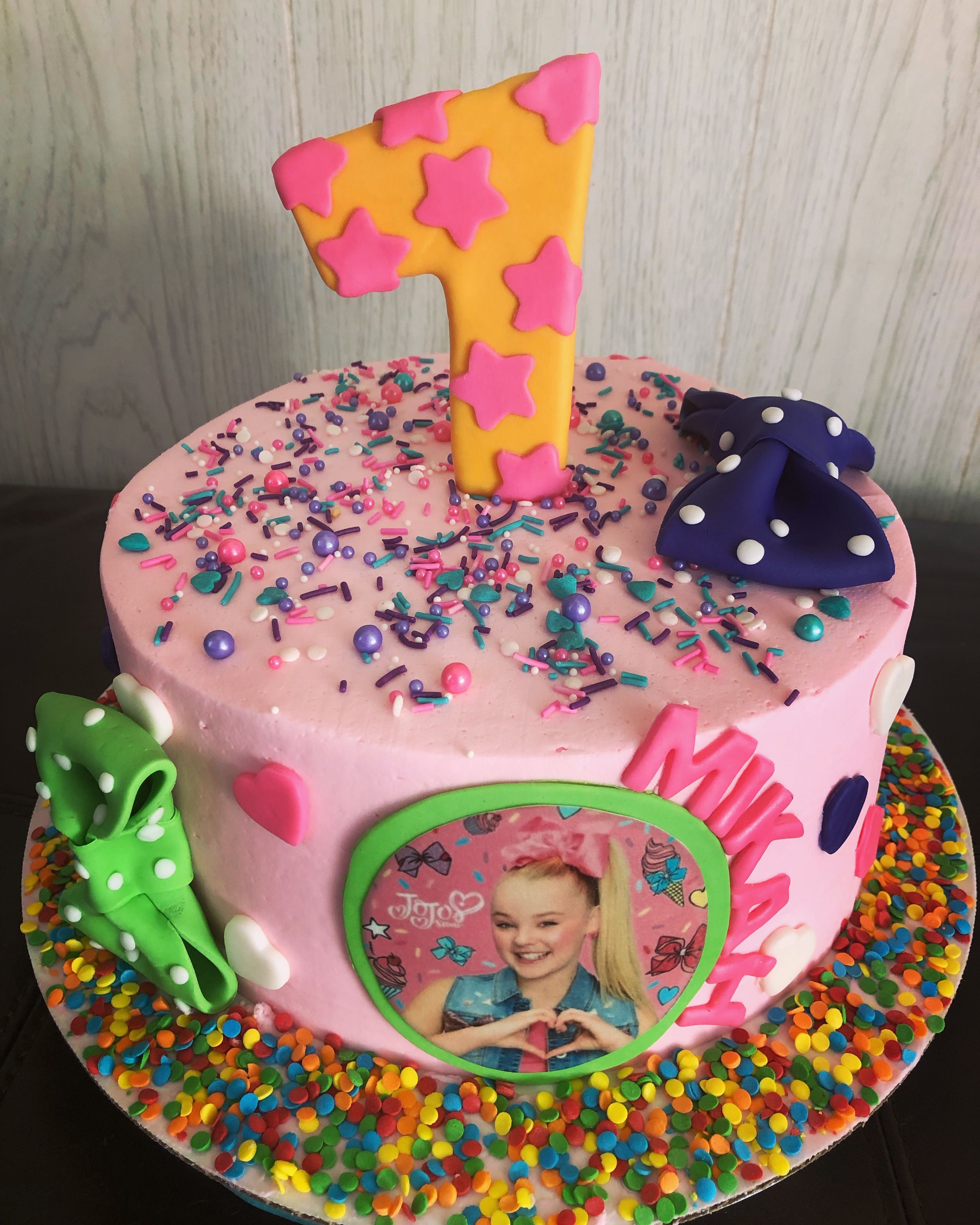 Jojo Siwa Cake With Images Cake Buttercream Cake Birthday Cake