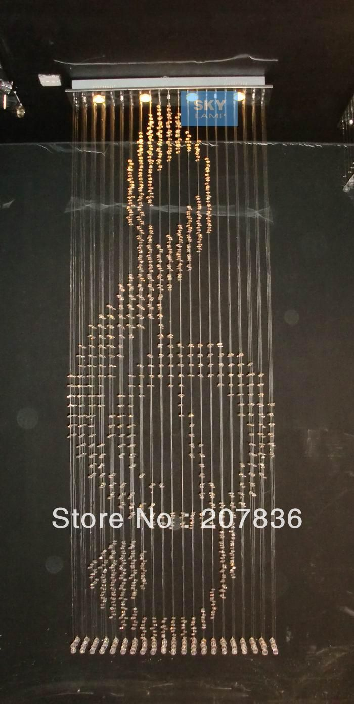 H160cm modern music led crystal pendant lamp rain drop chandelier h160cm modern music led crystal pendant lamp rain drop chandelier ceiling lighting by clovertrade ali express aloadofball Images