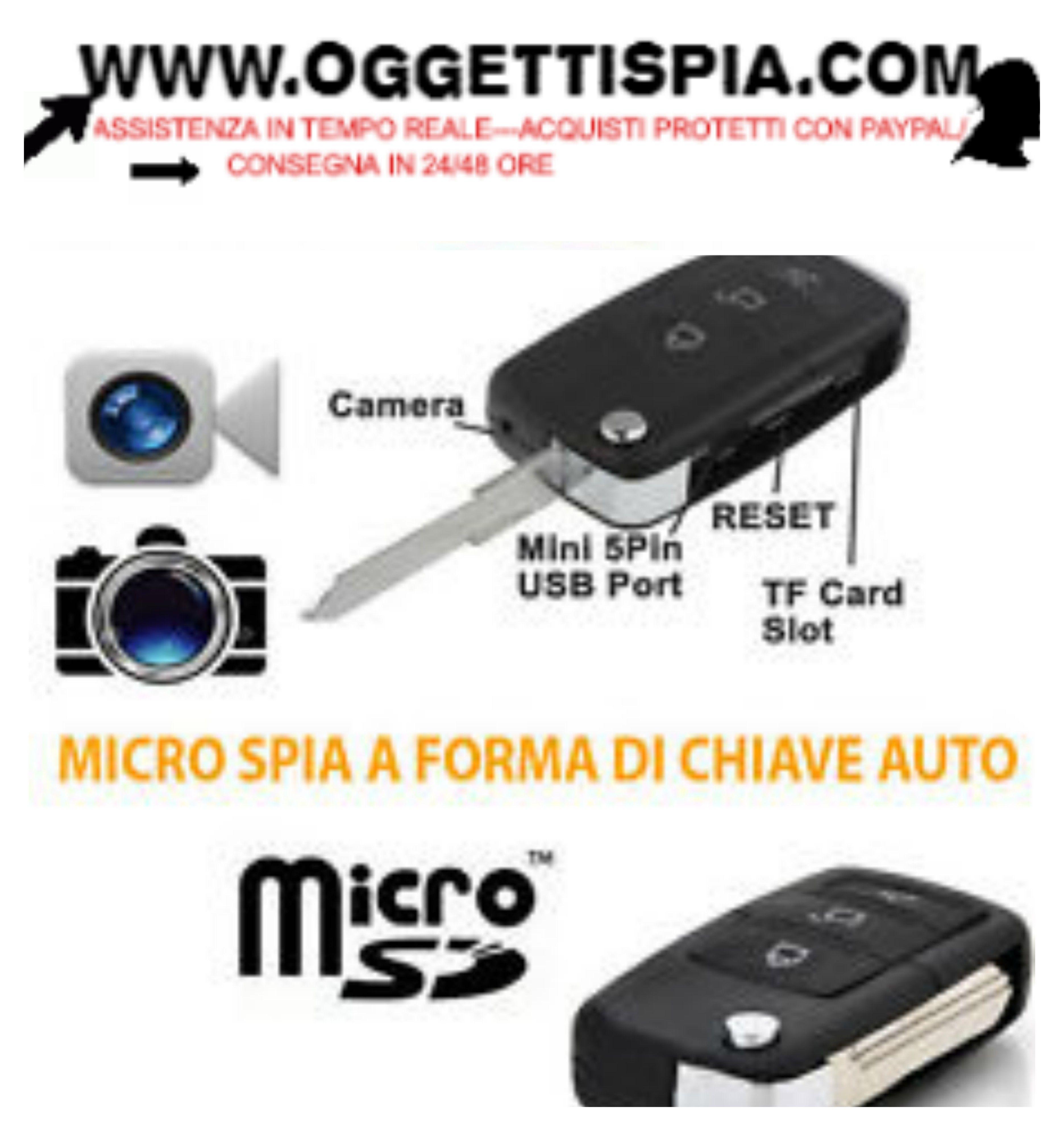 Mini micro telecamera video camera spia spy portachiavi chiave tele ando
