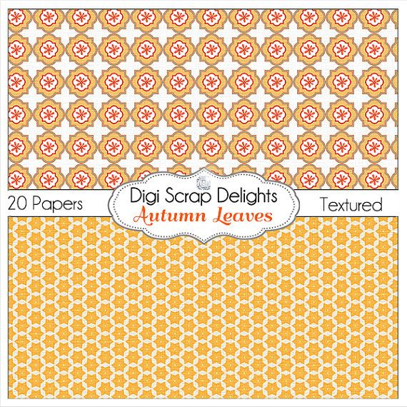 50% OFF TODAY Autumn Leaves Digital Papers by DigiScrapDelights
