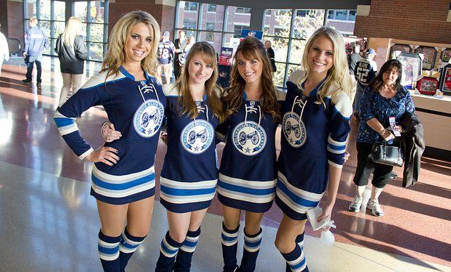 Hooked On Hockey Magazine Ice Girls Columbus Blue Jackets Blue Jackets Hockey