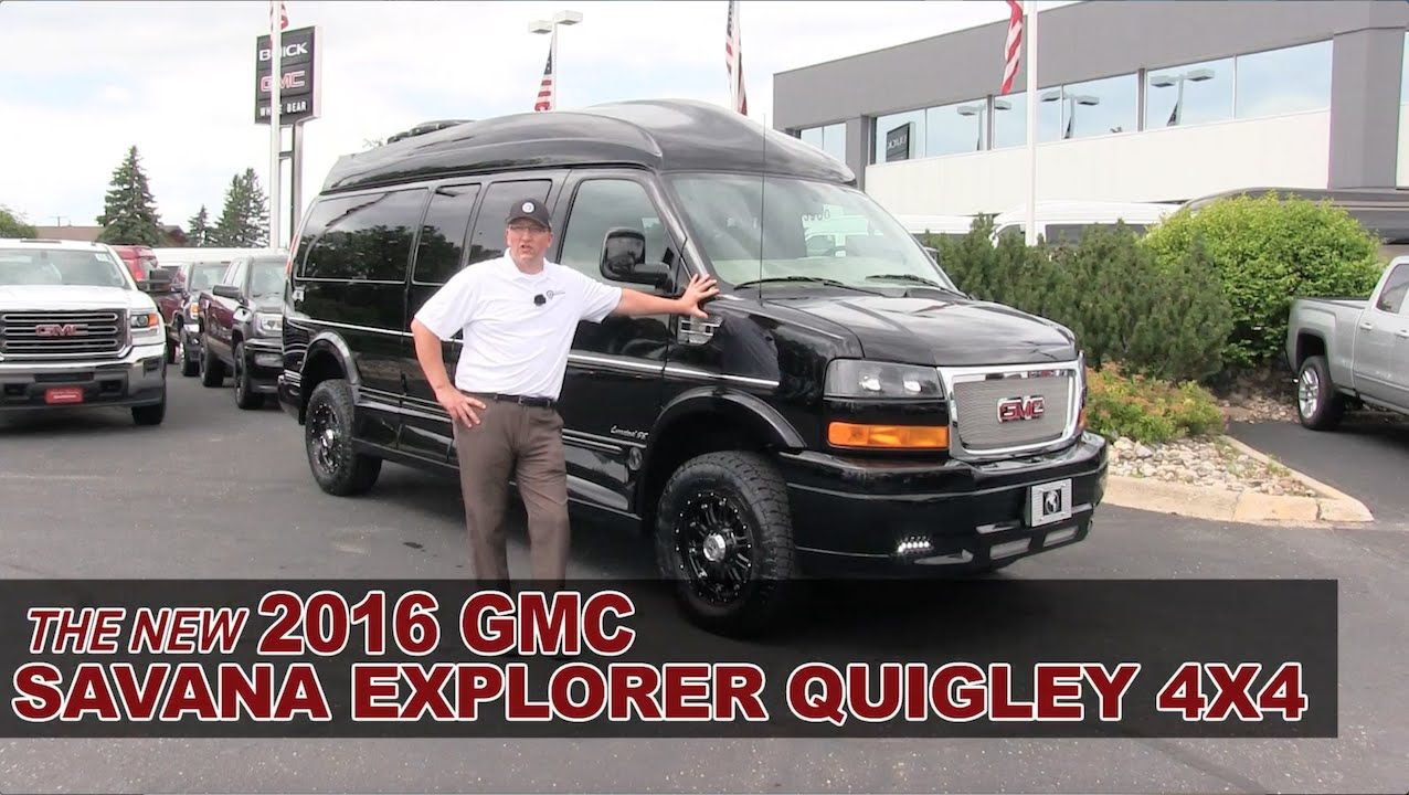 New 2016 Gmc Savana Explorer Quigley 4x4 Lifted Conversion Van White B Gmc Conversion Van Chevy Express Van Conversion