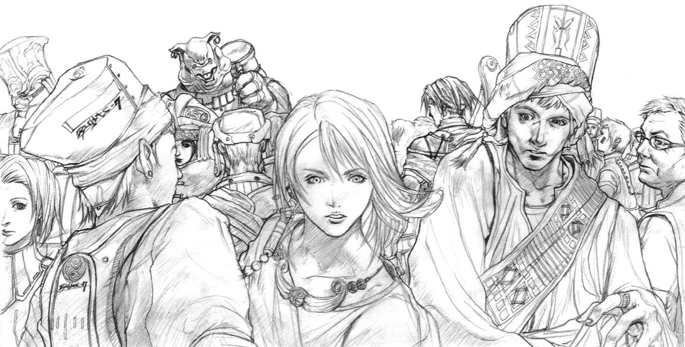 Week 10 Final Fantasy X Concept Art Mon Yuna In Crowd