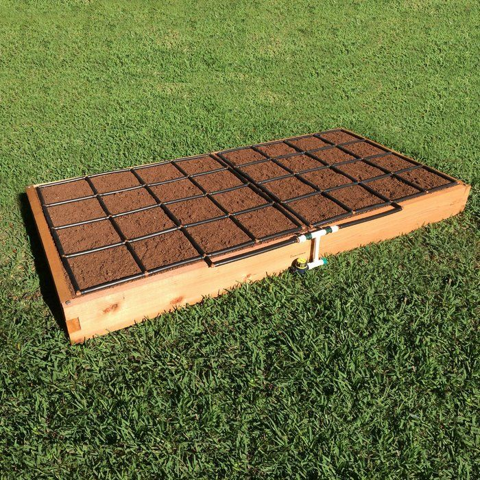 4 Ft X 8 Ft Cedar Wood Raised Garden (With Images