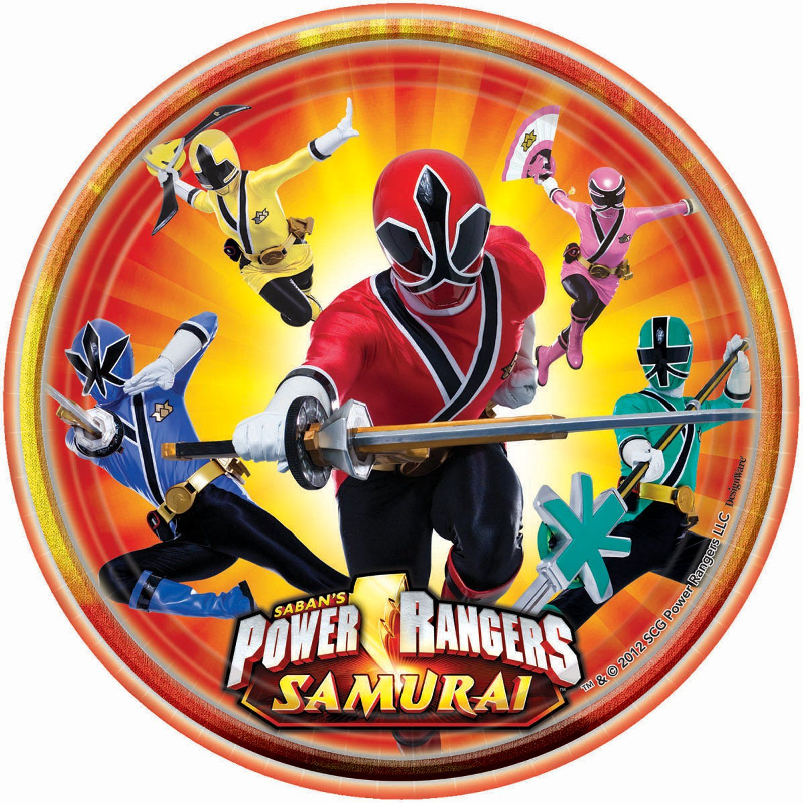 Power Ranger Samurai Plates | Power Rangers Samurai Party Ideas ...