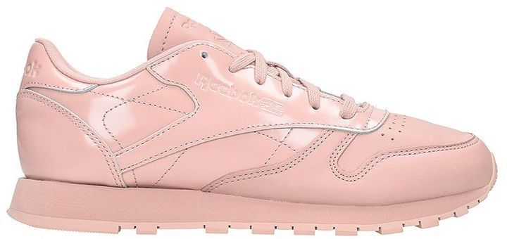 Reebok Classic Pink Leather Sneakers  95e10193a2c45