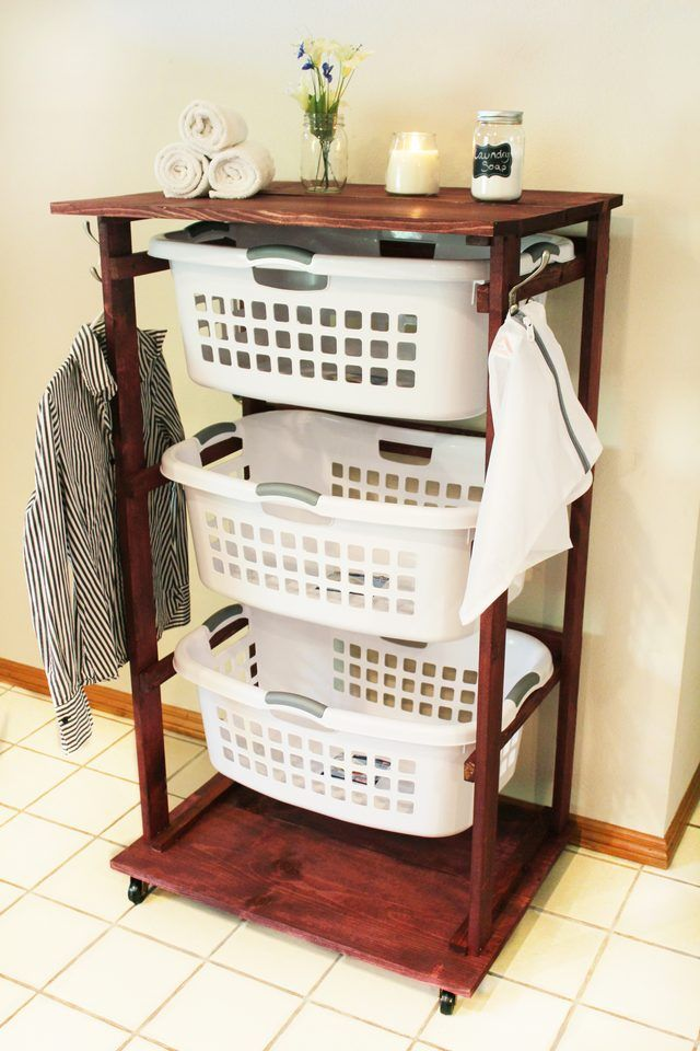 Get Organized And Create Your Own Rolling Laundry Cart To Allow