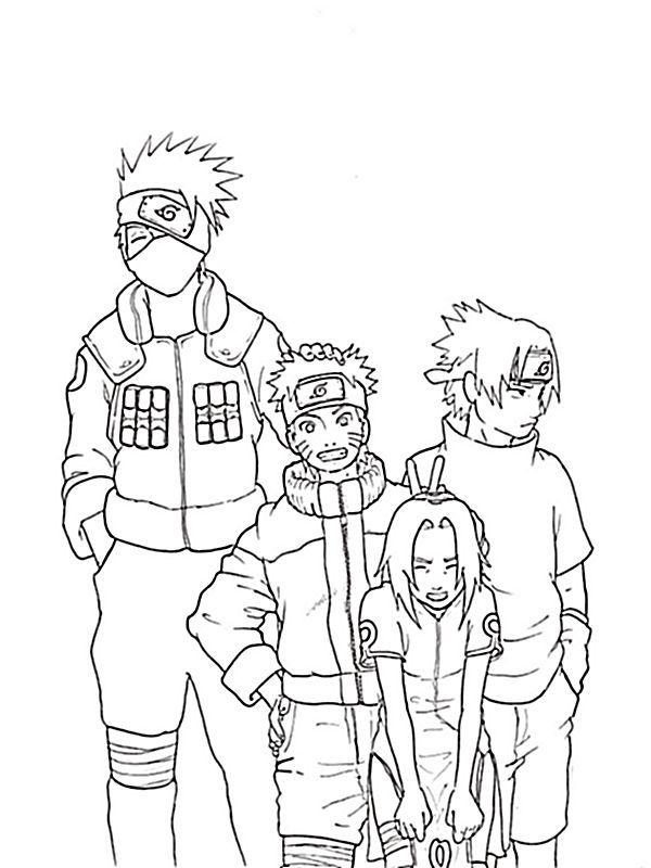 Ausmalbild Naruto Ist Ein Schelm Naruto Naruto Bilder
