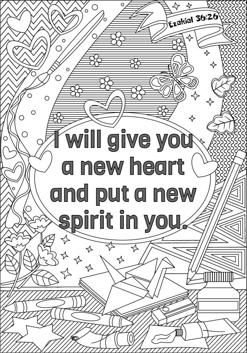 I Will Give You A New Heart Ezekiel Bible Coloringpage
