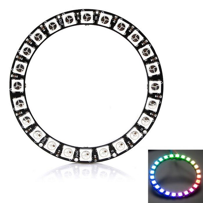 RGB LED Smart RGB Ring Development Board for Arduino - Black + White. Find the cool gadgets at a incredibly low
