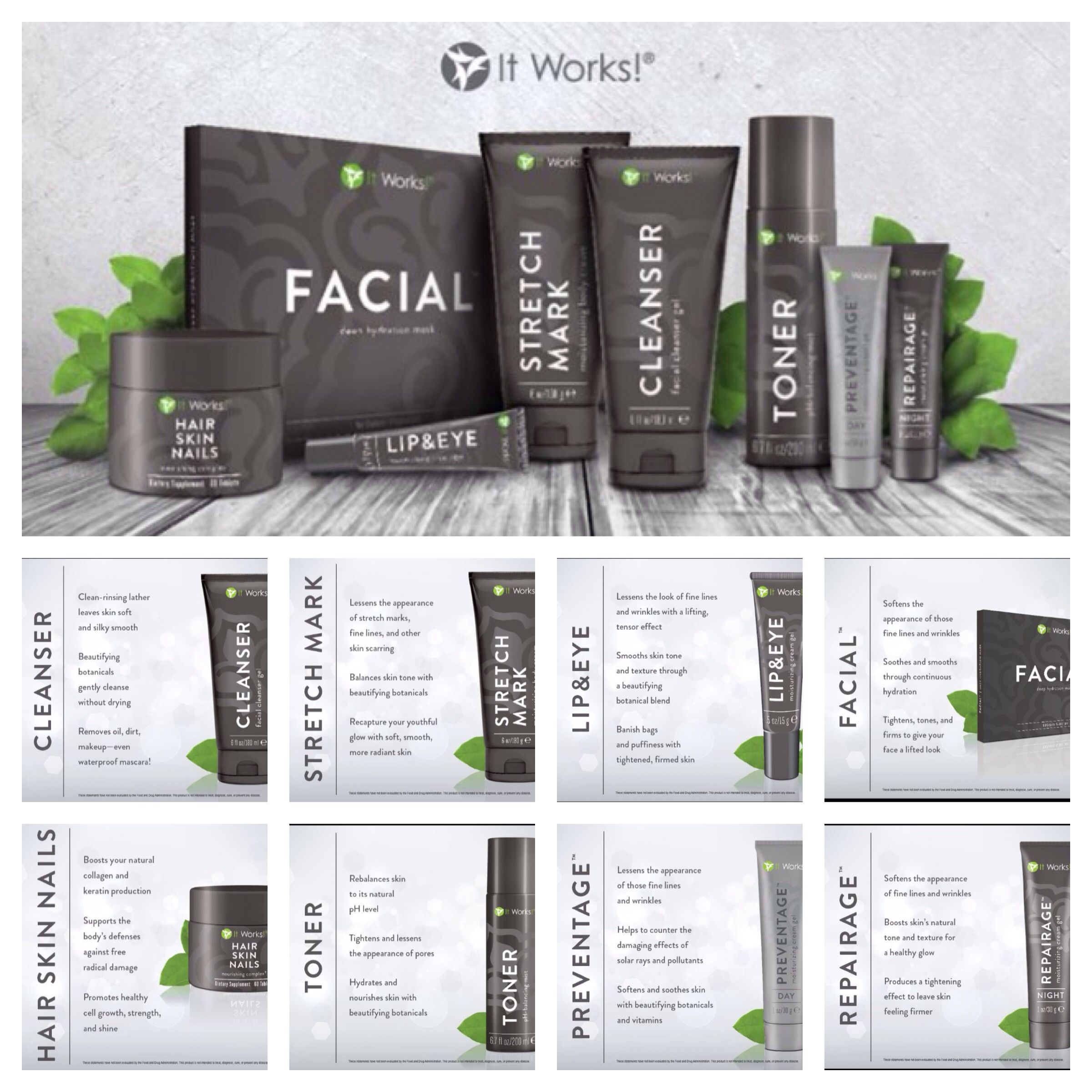 Facial products for facial lines