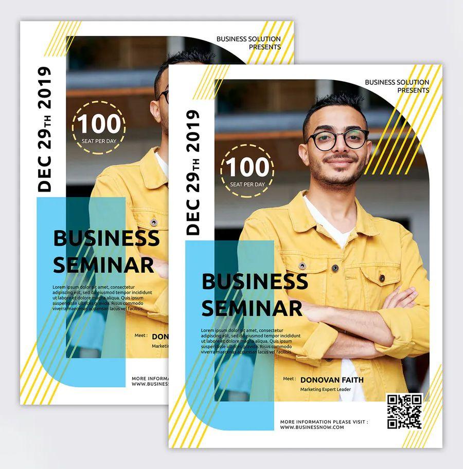 Business Seminar Flyer Template PSD, Vector EPS & AI | Seminar, Flyer, Flyer template
