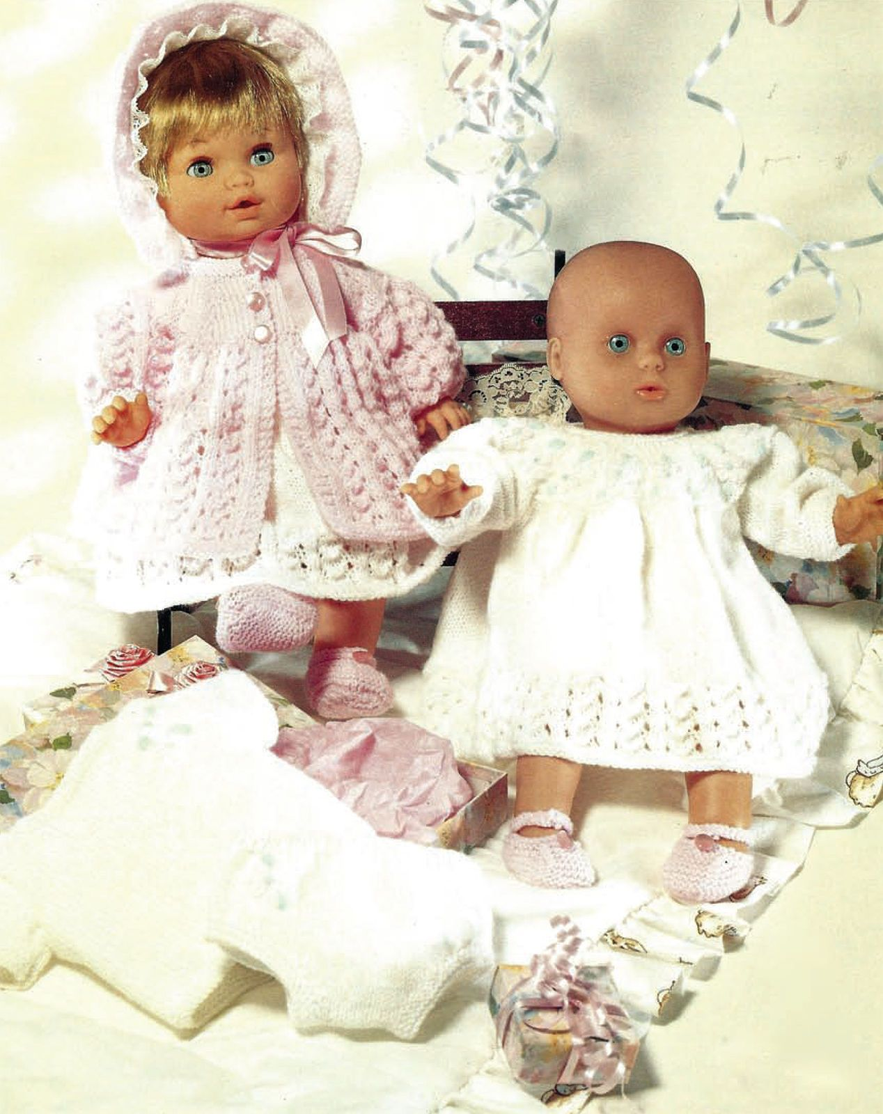 11 LAYETTE IDEAL PREMATURE  BABY OR DOLL KNITTING PATTERN 12//18 INCH