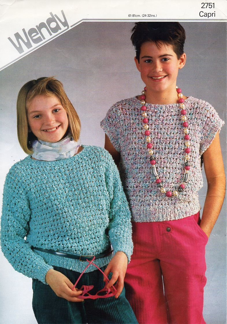 Childrens sweater top knitting pattern pdf girls top jumper 24-32 ...
