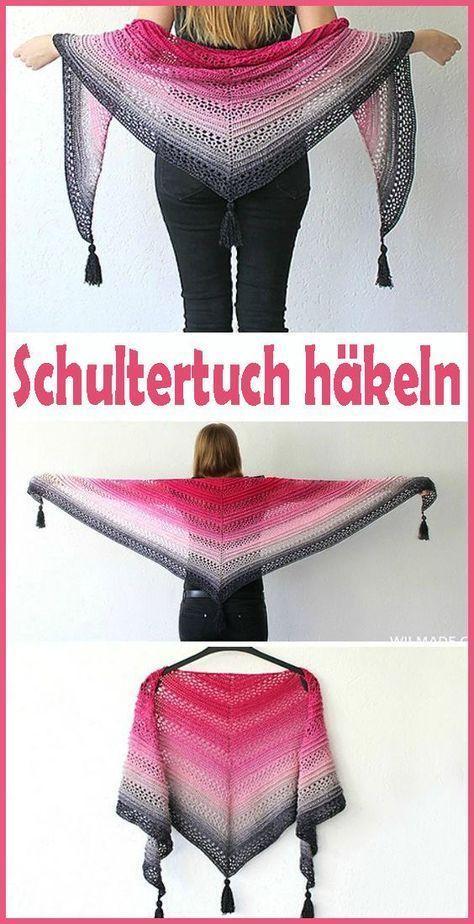 Photo of Gehäkelter Schulter- / Dreieckschal – kostenlose und einfache Anleitung – Häke…
