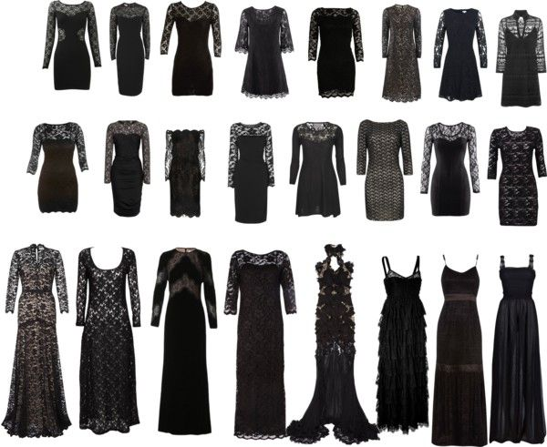 """A couple of dozen black lace dresses..."" by dahtee on Polyvore"