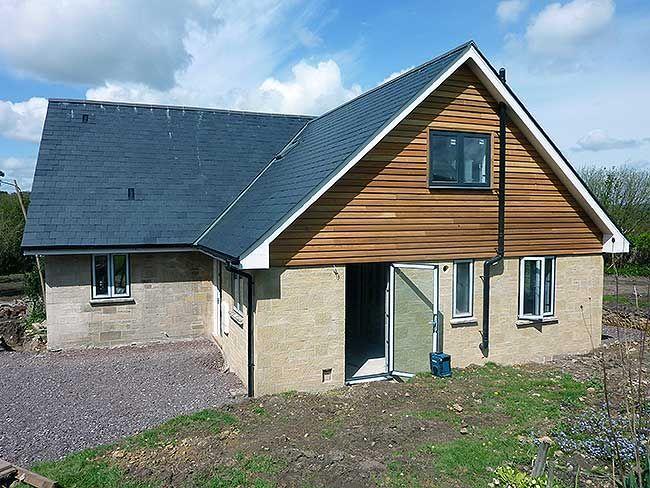Conversion of bungalow renovation pinterest bungalow for Exterior upvc cladding