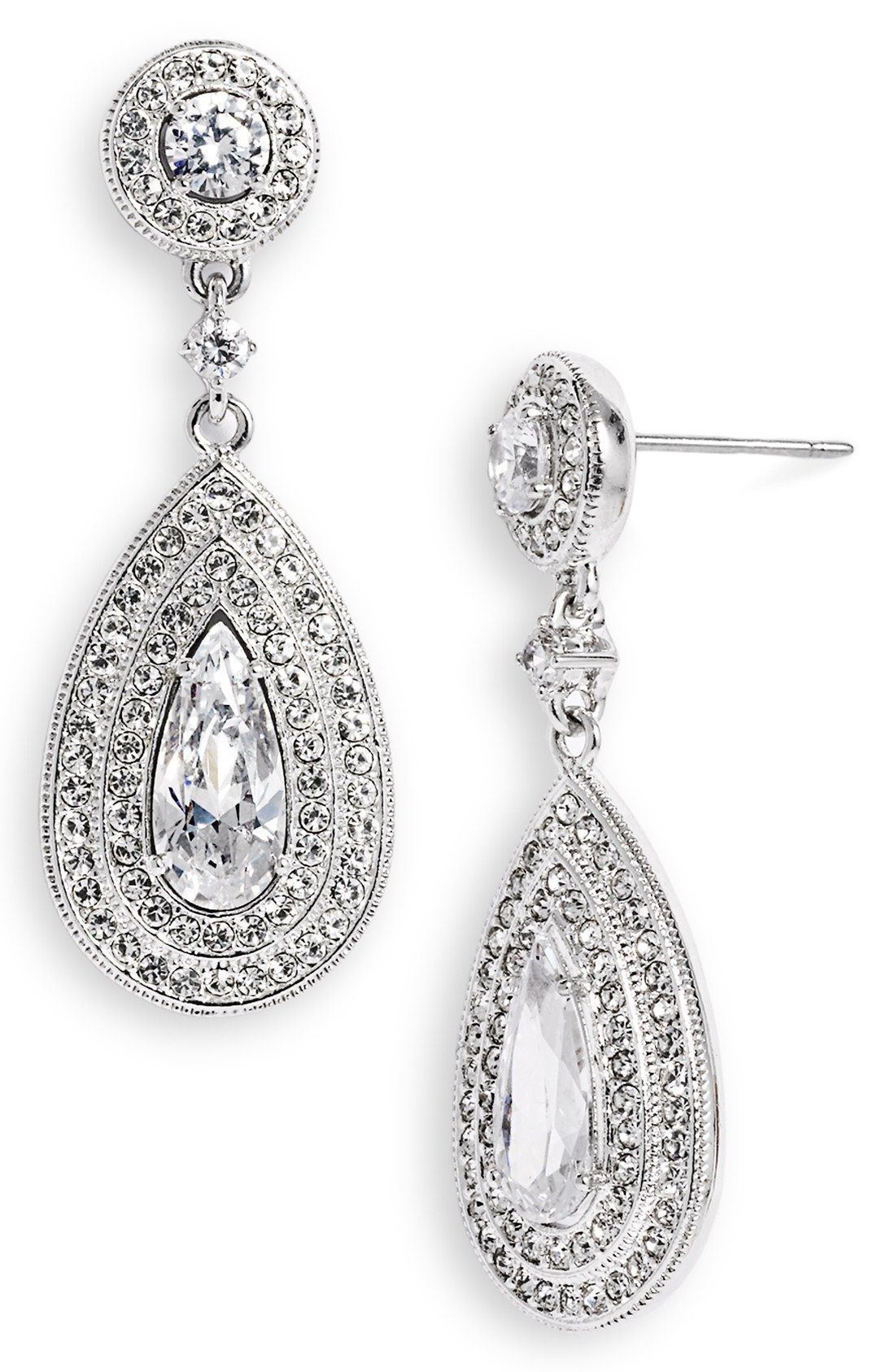 day earrings bridal set cassandra collections vintage wedding lynne rose and pave gold teardrop marquise in cz