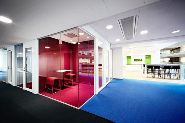 Commercial Building Interior Design Creative define space with color | commercial design inspiration
