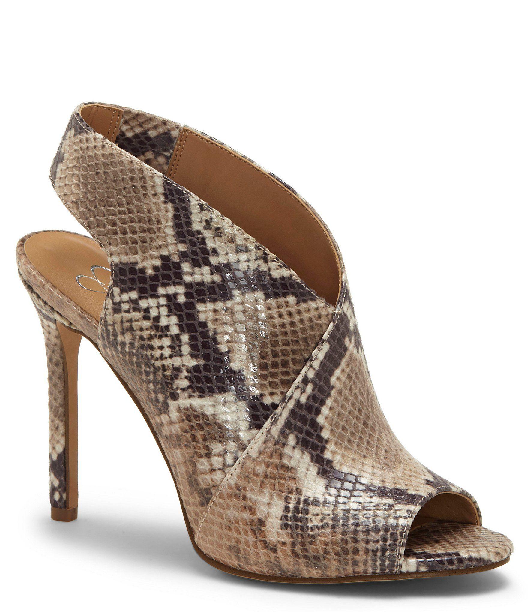 Jessica Simpson Jourie2 Snake Print Peep Toe Stiletto