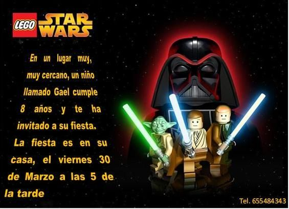 Invitacion de cumpleanos star wars gratis