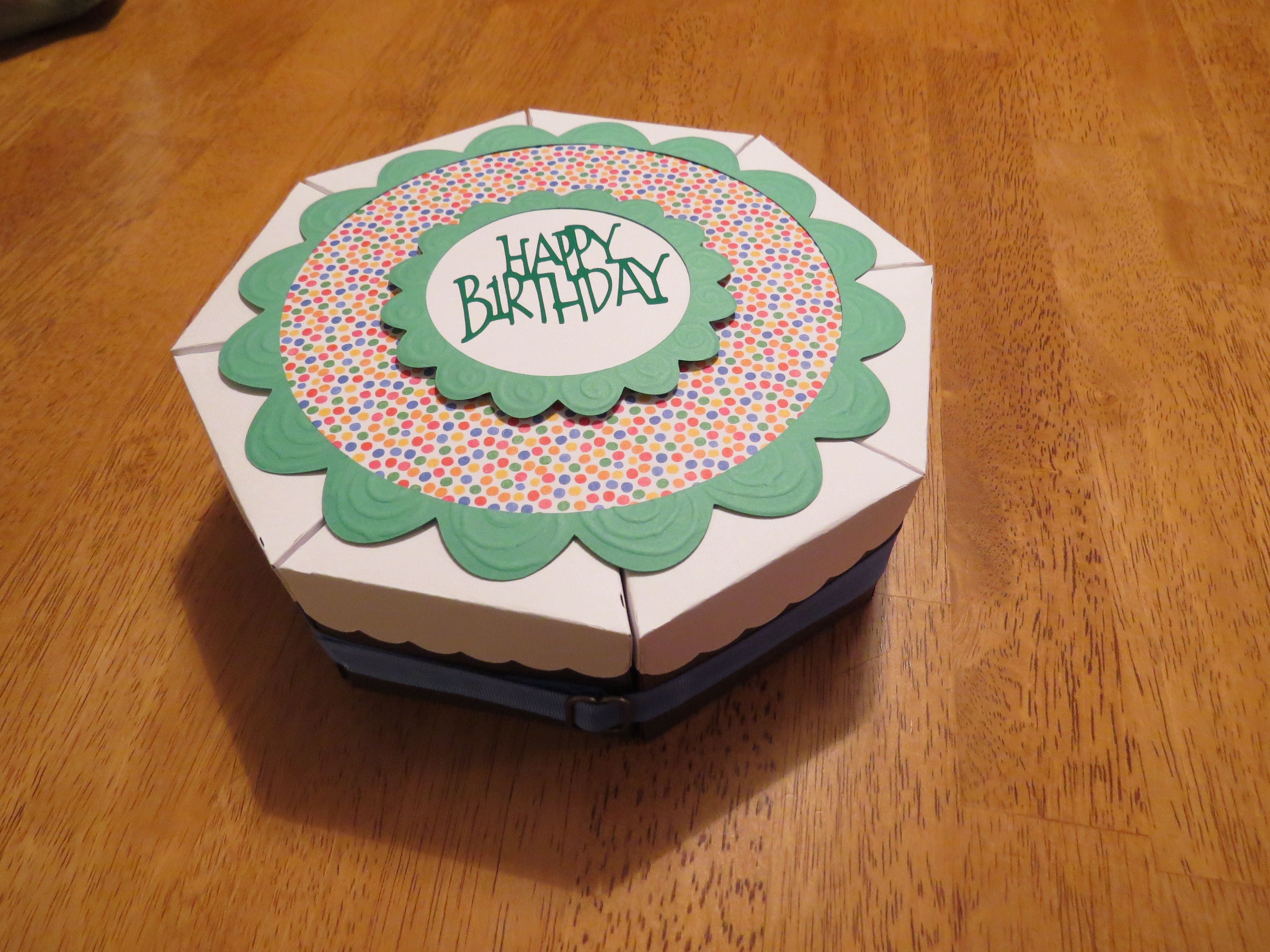 Birthday cake boxes 8 slices filled with candy and