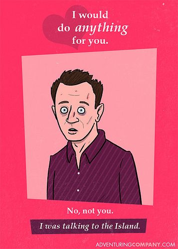LOST Valentine Cards. Ben freaking Linus. Bahahaha!