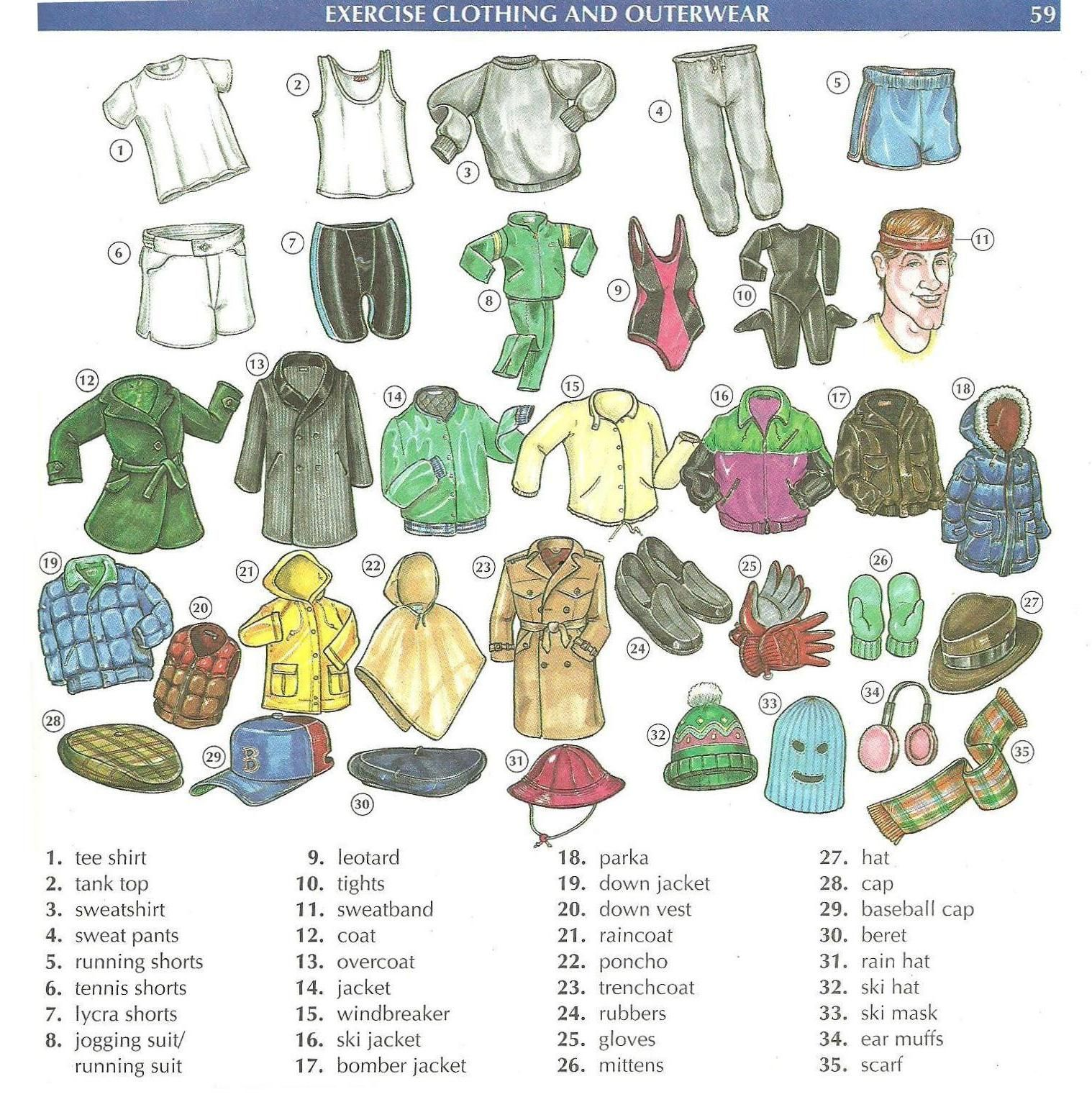 Clothing Vocabulary Background 1 Hd Wallpapers