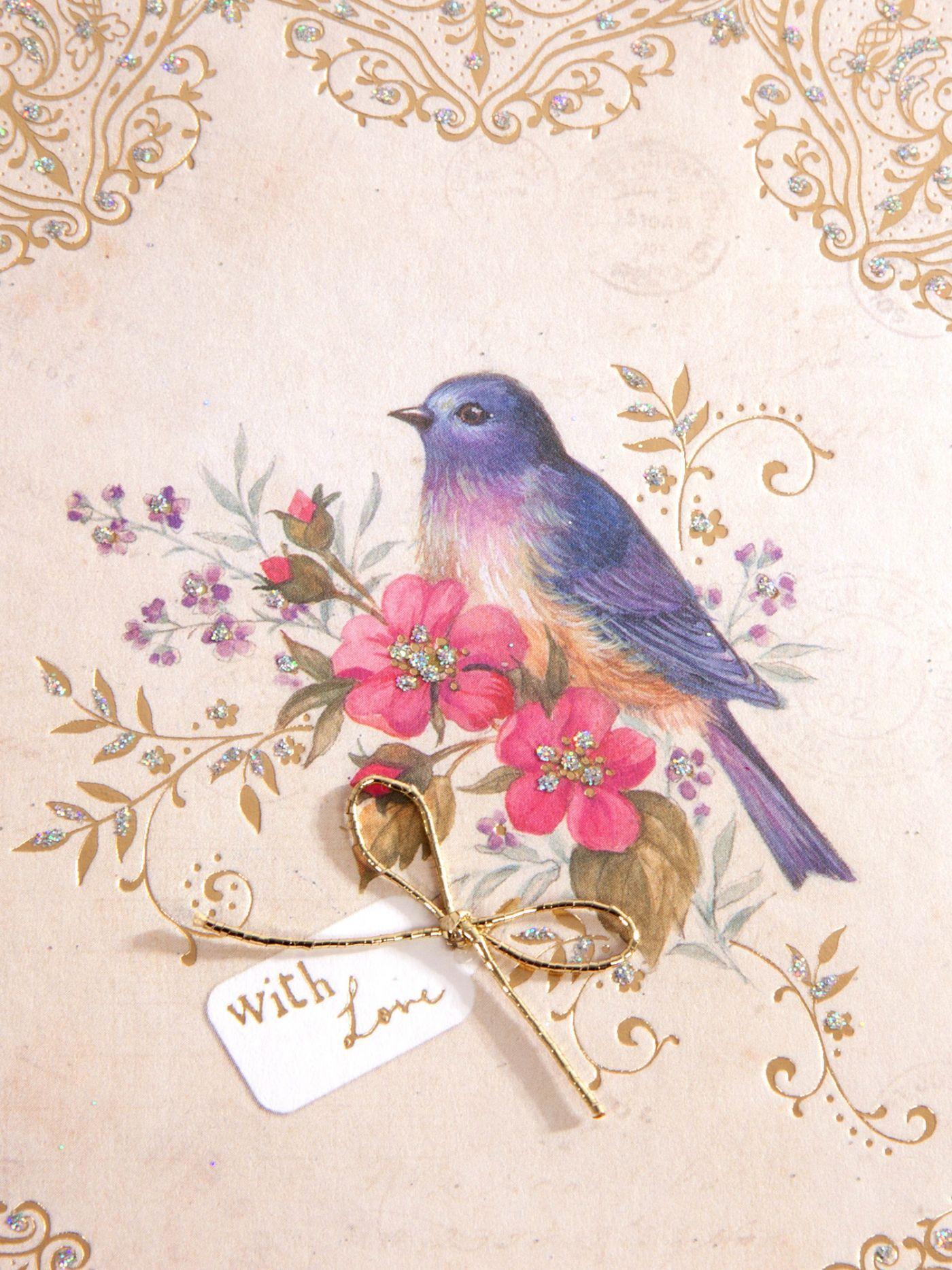 Hanging Bird Decoration Birthday Card Clintons Greeting Cards