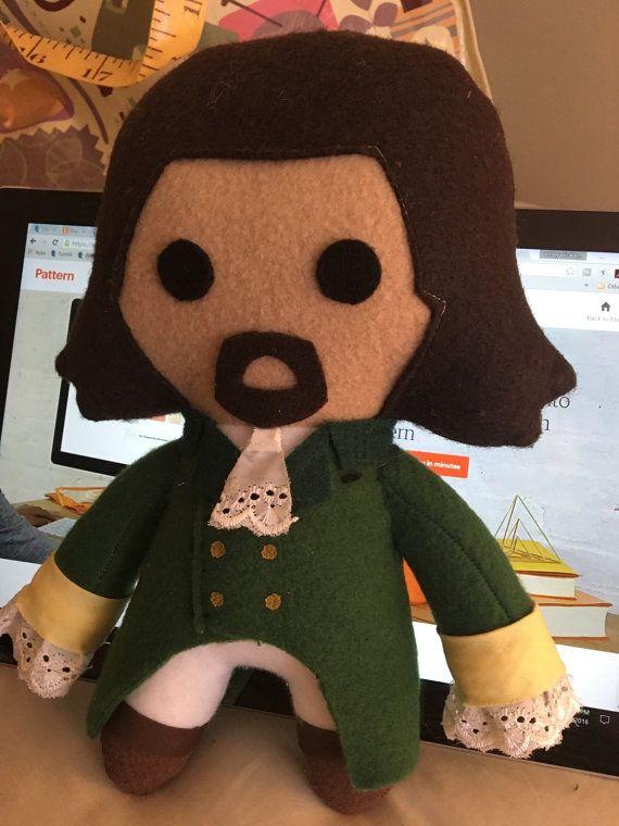 George Washington Hamilton Musical Fleece Plush Doll