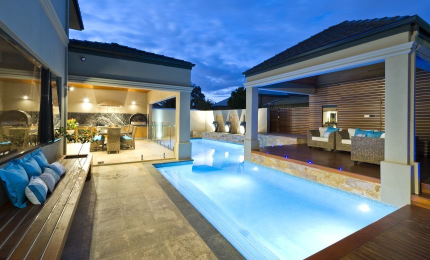 Contemporary Double Storey Residential Villa Two Storey House Swimming Pool Designs Luxury Homes Dream Houses