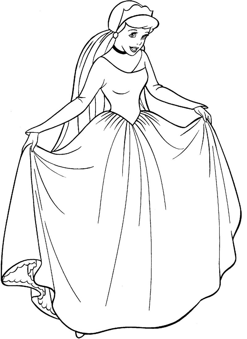 Cinderella Coloring Pages Cinderella Pinterest