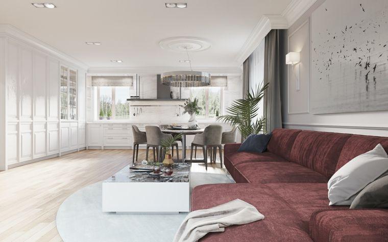 Cucina soggiorno open space, arredamento con mobili stile ...