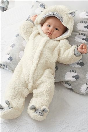 eeb5dafcb317 Buy White Sheep Pramsuit (0-12mths) from the Next UK online shop ...