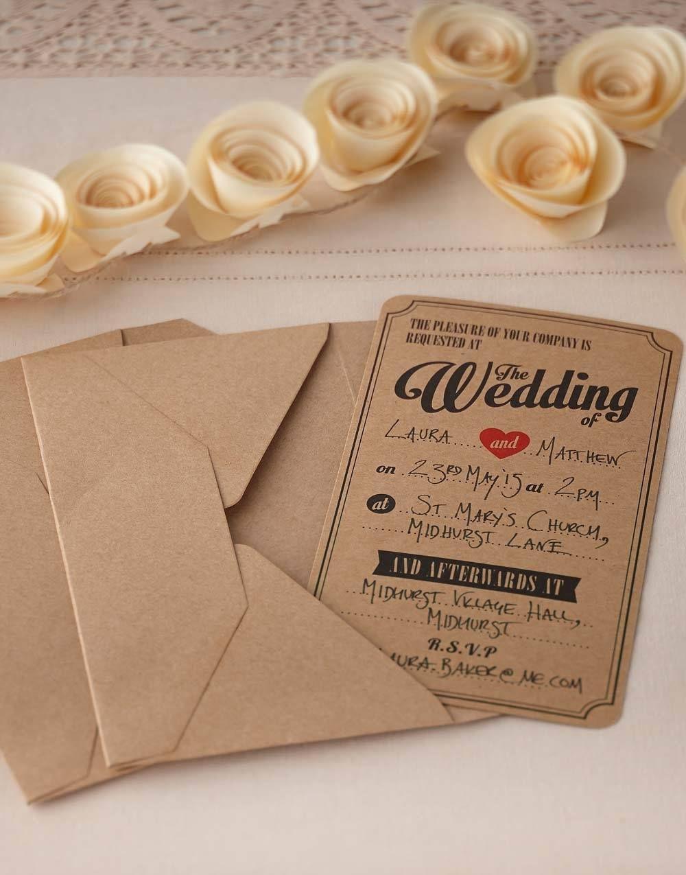 Billig! 10 stk Bryllupsinvitasjoner for Vielse Og alle ting relatert ...