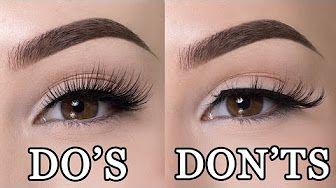 How to put on false eyelashes TRICK - YouTube | Fake ...