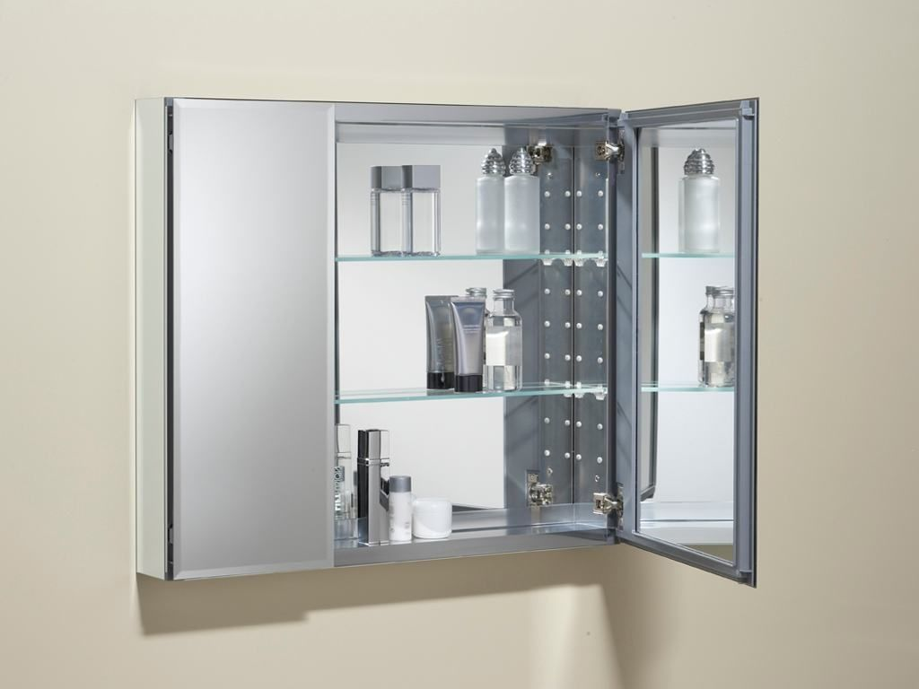 Triple door mirrored bathroom cabinet bathroom pinterest