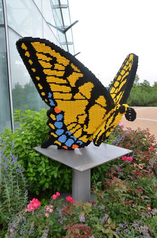 Exactly 37,481 LEGO® pieces are needed to create Tiger Swallowtail Butterfly, on display through October 2012 at Reiman Gardens, Iowa State University.