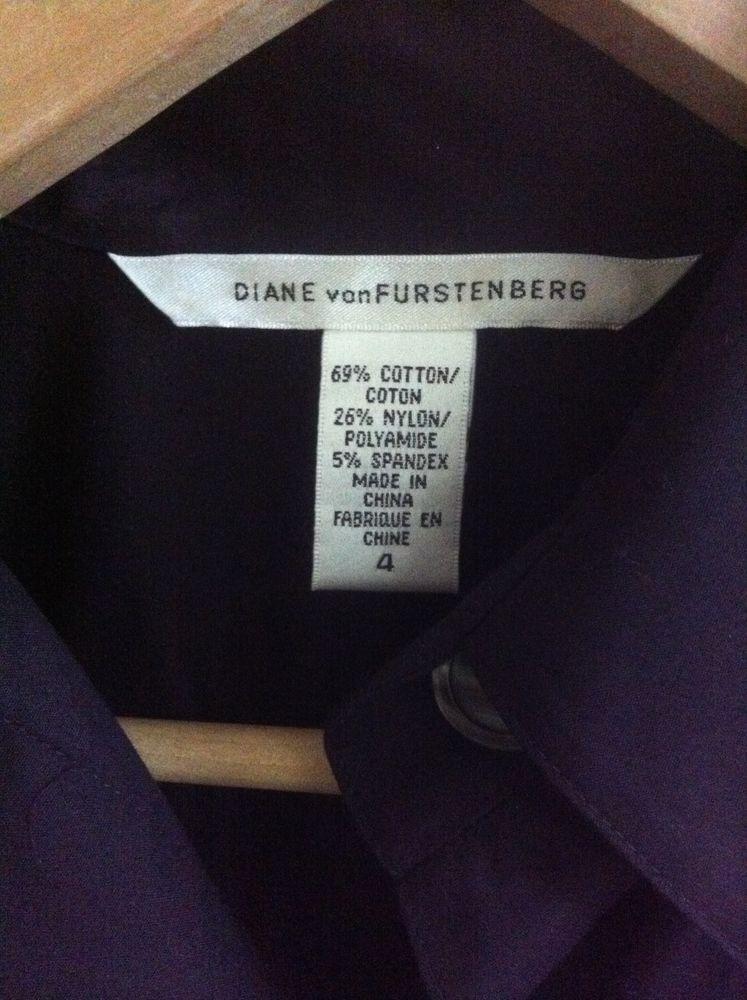 Diane Von Furstenberg classic black shirt-dress size US 4 (AUS 8)