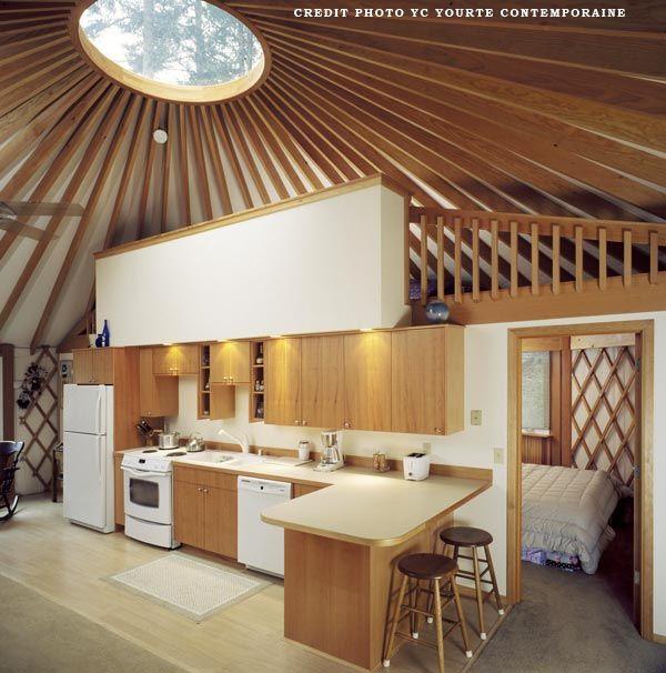 interieur yourte contemporaine yourte pinterest yourte contemporain et int rieur. Black Bedroom Furniture Sets. Home Design Ideas