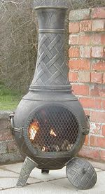 Captivating Buy The Basketweave Cast Iron Chiminea Online From The Largest Range Of  Cast Iron Chimineas UK