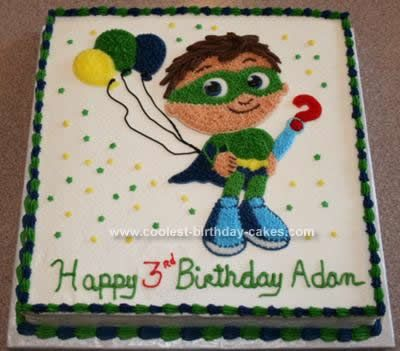 Coolest SuperWhy Birthday Cake Birthday cakes Birthdays and Cake