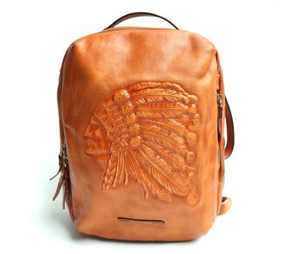 22bca5f7cb0f Cool Leather Mens Backpacks Travel Backpack School Backpacks for men –  iwalletsmen