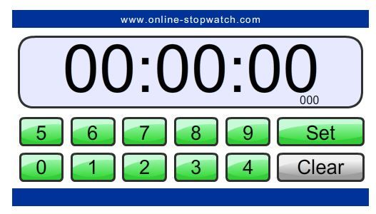 countdown timer several different free online timers to use in your