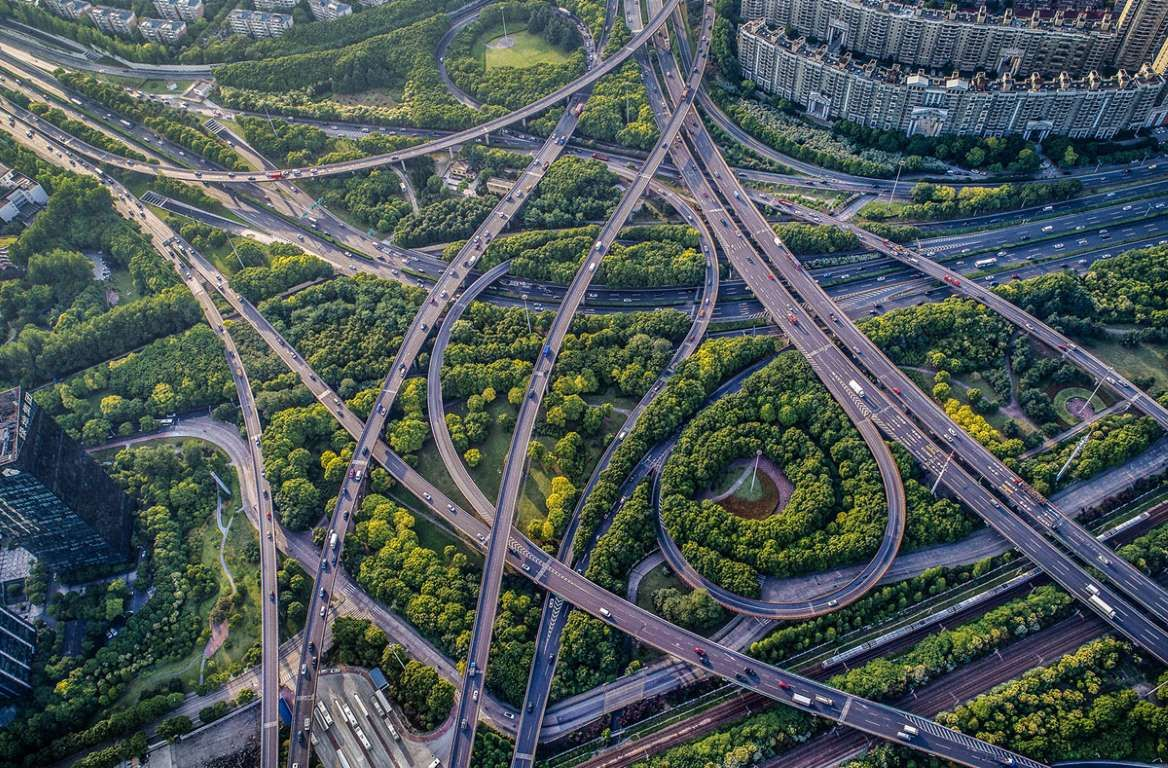 Image result for curving highway at night paintings