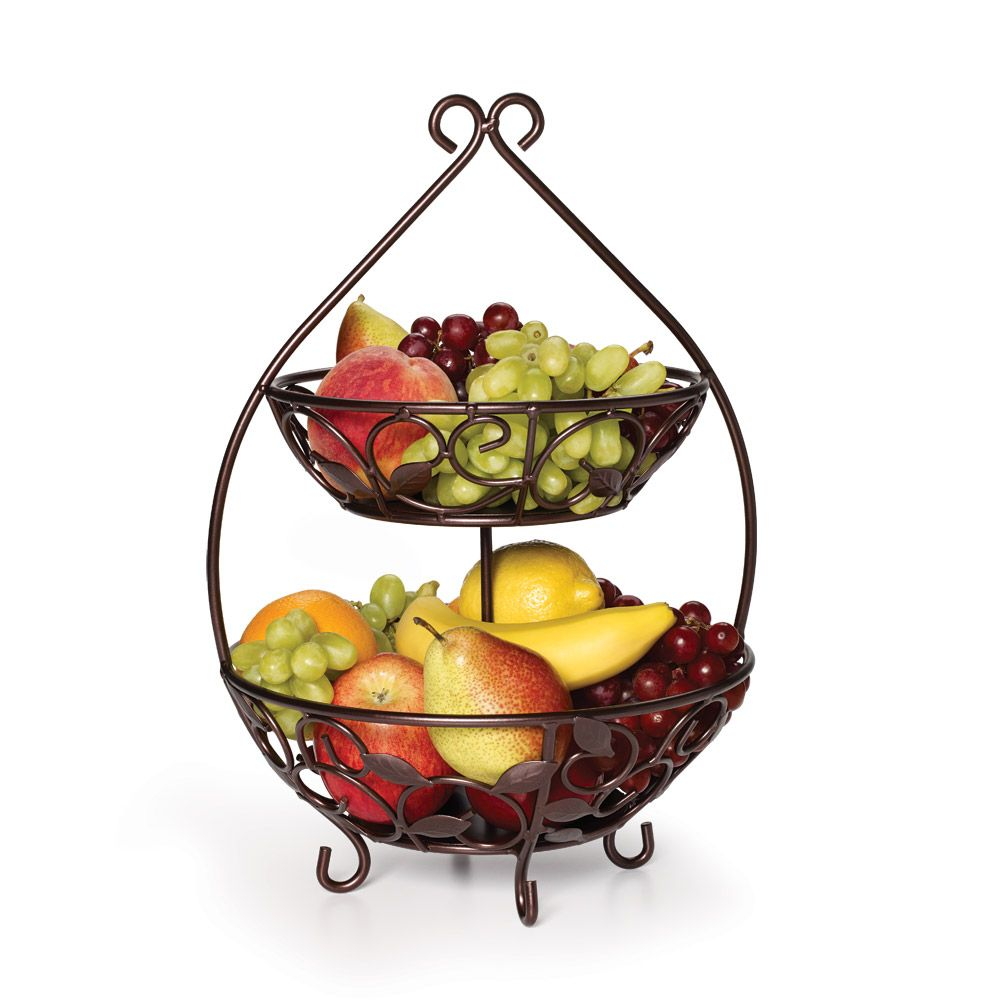 Two Tier Fruit Basket | Unique products, Pear and Bowls