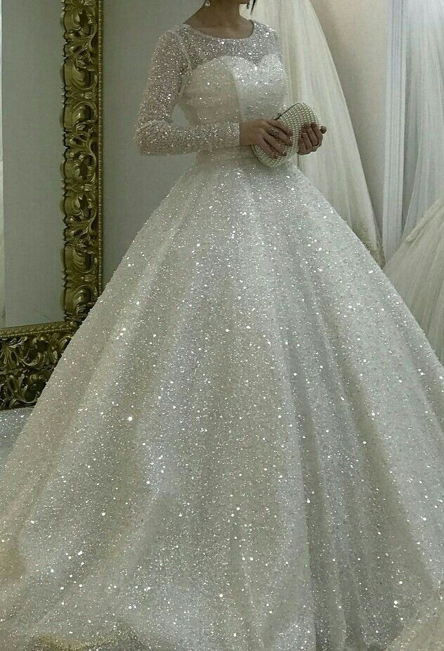 Vestiti Da Sposa Luccicanti.Sparkly White Wedding Dresses Bridal Gown Prom Dresses From