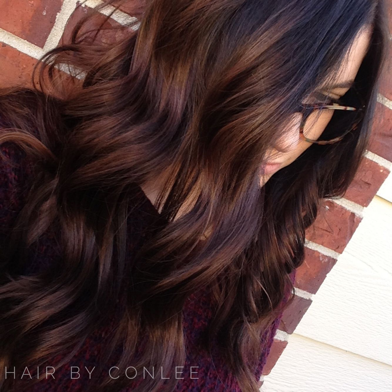 Beautiful Blonde Balayage With Long Brown Hair Light Color And Lights