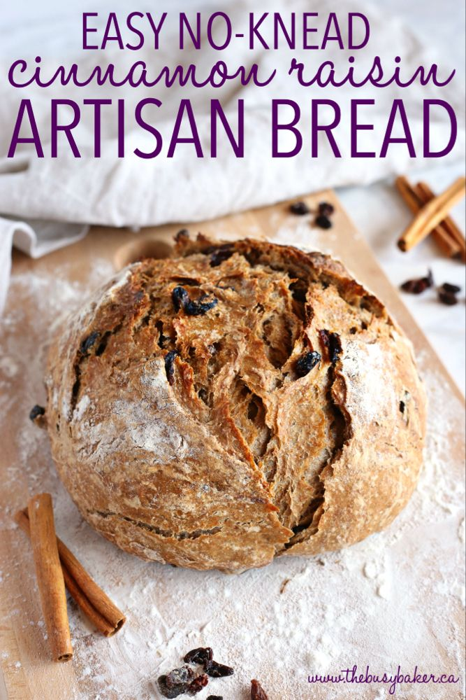Easy No Knead Cinnamon Artisan Bread | Recipe (With images ...